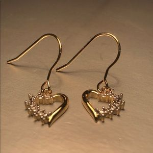 Earrings18 Gold over brass ,diamond accents
